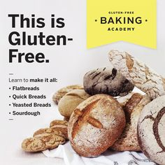 The Gluten-Free Bread Baking Course launches March 1—get in on early-bird pricing now and learn to make flatbreads, quick breads, yeasted breads + sourdough! https://glutenfreebakingacademy.com/