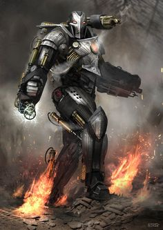 #Iron #Man #Fan #Art. (Steampunk War Machine 2) By: Conor Burke, aka Mac-tire. (THE * 5 * STAR * AWARD * OF * ÅWESOMENESS!!!™)