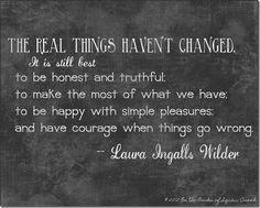Laura Ingalls Wilder wisdom art