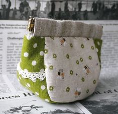 Come fare Aoi-chan Banebo / Clutch Mini, Snap Bag, Japanese Bag, Frame Purse, Diy Purse, Craft Bags, Cosmetic Pouch, Purse Patterns, Fabric Bags