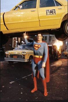 error888: Christopher Reeves behind the scenes photo Superman...