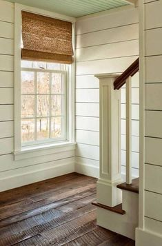 Love the wide shiplap and this flooring!