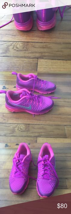 Nike air max women's 7.5 Only wore for a couple months great condition... vibrant color !! Nike Shoes Sneakers