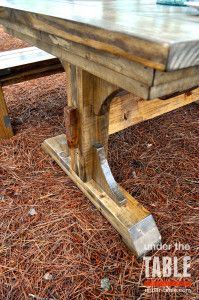 This X Traditional Farmhouse Table Is Stained Dark Walnut And - Farm table wake forest nc