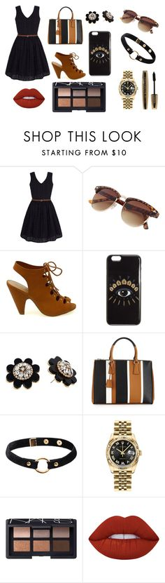 Brown and black<3 by michelle159052 on Polyvore featuring Yumi, Prada, Rolex, Kate Spade, Nika, Kenzo, NARS Cosmetics, Lime Crime and L'Oréal Paris