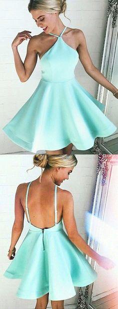 homecoming dresses, cute backless party dresses, mint mini dresses