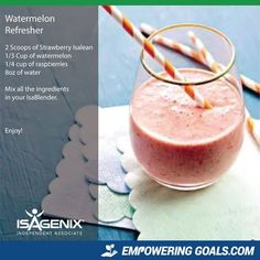 Amazing protein shake recipes by Isagenix. Learn how the amazing Isalean Shake can fuel you with 24 grams of indentured protein as well as needed vitamins and minerals to make a complete meal replacement shake that tastes amazing Protein Snacks, Pancakes Protein, Isagenix Snacks, Protein Shake Recipes, Smoothie Recipes, Snack Recipes, Whey Recipes, Pina Colada, Natural Protein Powder