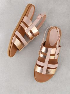 8aca9568f635 Buy Sand Strappy Two Tone Sling Back Sandal Blush Multi for Women at  Fashiontage.