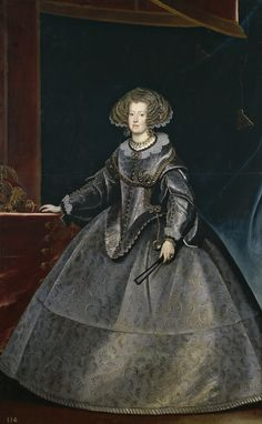 """Frans Luycx  Portrait of the Infanta Maria Anna of Spain, Queen of Hungary; c. 1635  Museo del Prado, Madrid, Spain (P01272)  """"Although it is nowadays known to be a painting by Luycx, a Flemish artist who became the leading portrait painter at the..."""