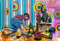 Fadiel Hermans | Custodian (2020) - South African painting available for sale | StateoftheART African Paintings, Online Art Gallery, Canvas Size, Pop Art, Original Paintings, The Past, History, Artwork, Artist