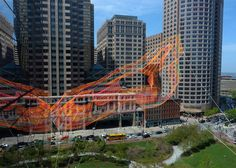 Artist Janet Echelman creates aerial rope sculpture in Boston #Inspiration #Ephemeral
