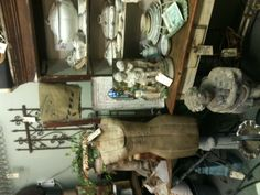Dress forms, Ironstone, Transferware, Garden Statuary , Antique Urns and Farm Tables~Kathee's booth space at American Home & Garden in Ventura Ca