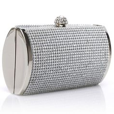2014 Silver Clutch Party Women Purse Evening Wedding Handbag Rhinestone Clip Bag #Unbranded #EveningBag