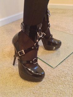 Vegan Ankle Cuff/Stiletto Harness Pair by JMD21407 on Etsy