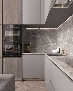 33 Trendy Kitchen Backsplash Modern Back Splashes Interior Design Kitchen Room Design, Luxury Kitchen Design, Kitchen Cabinet Design, Home Decor Kitchen, Interior Design Kitchen, Kitchen Ideas, Kitchen Colors, Stone Interior, Kitchen Layout