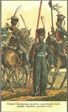 Line Hussars, Uhlans & Cossacks.