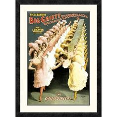 Global Gallery 'The Gaiety Dancers, 1900' by Courier Litho Company Framed Vintage Advertisement Size: