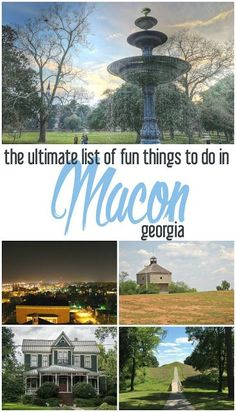 If you're looking for fun things to do in Macon, GA, here's the ultimate list arranged by areas of interest! Cheap Family Vacations, Family Vacation Destinations, Vacation Trips, Day Trips, Family Trips, Vacation Travel, Vacation Ideas, Macon Georgia, Georgia Usa