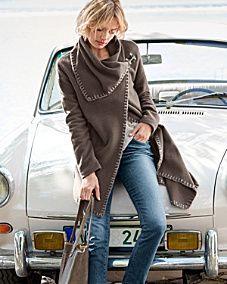 Asymmetrical Boiled Wool Coat - Garnet Hill