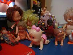 bonecas vintage ,boneca moranguinho,boneca bebê patotinha, boneca Emilia fofolete.