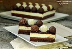 Prajitura cu cocos si ciocolata Sweets Recipes, Cheesecake, Deserts, Blog, Cheese Pies, Desserts, Cheesecakes, Blogging, Dessert