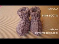 PATUCOS DE BEBÉ PUNTO LISO BABY BOOTIES ESPAÑOL-ENGLISH PATTERN - YouTube
