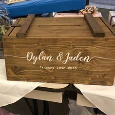Rustic card box wedding Large Wedding card Box with lock post box keepsake box with Rustic Card Box Wedding, Money Box Wedding, Wedding Gift Boxes, Wedding Cards, Memories Box, Wrapping Ideas, Wood Card Box, Staubige Rose, Greeting Card Companies