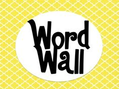 Quatrefoil Word Wall Alphabet. FREE from TPT