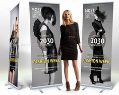 These digital signage templates are easy to edit. You just change image and change color as you like. The list items below are the digital signage templates for Photoshop and InDesign. Fashion Banner, Change Image, Digital Signage, Trade Show, Banner Design, Color Change, Mockup, Advertising, Photoshop