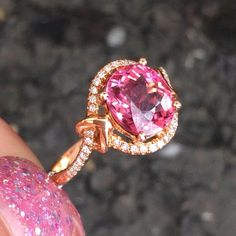 Hey, I found this really awesome Etsy listing at https://www.etsy.com/listing/211985339/pink-tourmaline-ring-engagement-ring-26