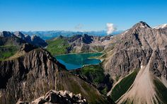 Enjoy an amazing view of the Lake Lüner See from a mountaintop close to Bludenz in Vorarlberg, Austria #austriantime