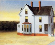 Edward Hopper Cape Cod Sunset painting for sale, this painting is available as handmade reproduction. Shop for Edward Hopper Cape Cod Sunset painting and frame at a discount of off. American Art, Rural Scenes, Painting, Art, American Painting, Modern Artists, Sunset Painting, Edward Hopper, Edward
