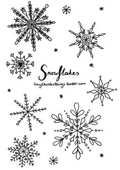 weihnachten illustration Since its snowing here, I thought Id draw some snowflakes. Theyre the perfect thing to doodle in your journal and can look pretty good with little effort. Christmas Doodles, Christmas Drawing, Christmas Crafts, Christmas Decorations, Winter Painting, Bullet Journal Inspiration, Xmas Cards, Doodle Art, Washi