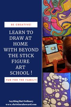 Learn To Draw At Home With Beyond The Stick Figure Art School Very Easy Drawing, Easy Drawings, The Doodler, Online Art School, School Reviews, Drawing Course, Basic Shapes, Stick Figures, Home Schooling