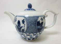 A Meissen blue and white Teapot with later cover Circa 1740