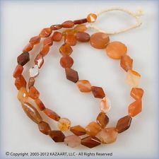 Ancient Carnelian Agate Tabular Diamond Shaped Beads Strand Necklace Mali