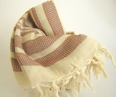 Traditional Handwoven Turkish Bath Towel Natural by TheAnatolian, $28.00