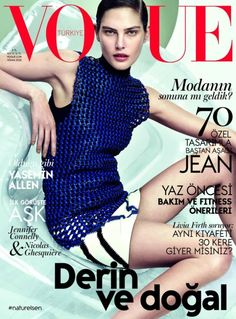 Vogue Turkey April 2015 | #CatherineMcneil by David Slijper #Covers2015 #Spring2015
