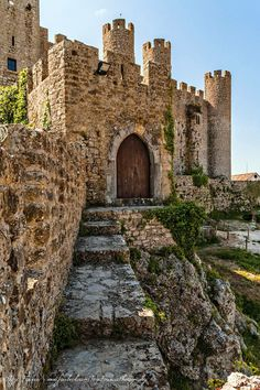 Obidos Castle and it's medieval walls still surrounding the existing village  Portugal