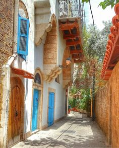 An Alley in the Old Mina District of Tripoli Lebanon - x Lebanon Travel Destinations Tripoli Lebanon, Beirut Lebanon, Brick And Stone, North Africa, Heaven On Earth, Asia Travel, Architecture, Middle East, Night Life