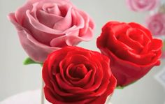 chocolate ganache edible rose popcakes fondant roses wedding favours