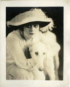 Theda Bara & Dog