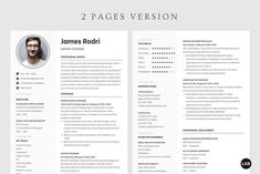Resume CV Template Canva, Professional Modern Resume Template for Canva, Clean Modern Executive Resume Template, CV Template Easy to edit your resume Add, replace, remove, create new section Editable photo Change description based on your profession Profile Photography, Photography 2017, Cv Design, Graphic Design, Cv Simple, Executive Resume Template, Creative Cv, Professional Cv, Modern Resume Template