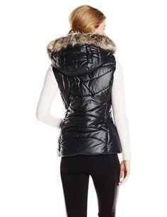 BCBGeneration Women's Packable Down Vest, Black, Small at Amazon Women's Coats Shop