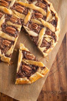 Rustic Chocolate Pecan Tart-yum.