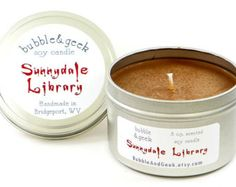 Sunnydale Library Scented Soy Candle  - 8 oz. tin - Buffy