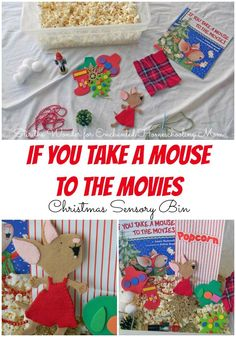 If You Take a Mouse to the Movies : Christmas Sensory Bin | Stir the Wonder for Enchanted Homeschooling Mom