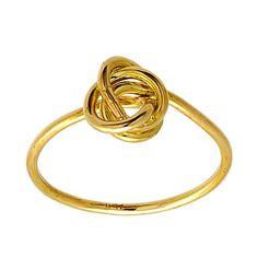Handmade Knot Wire Ring in 14k White Gold. by Neta Wolpe of NetaJewelry, via Etsy.