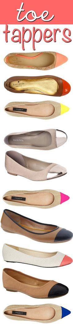 capped toe ballet flats