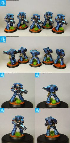 Primaris Ultramarines Hellblasters squad